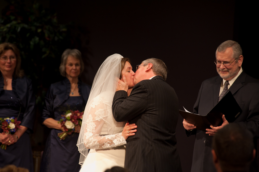 Mark and Barb's first kiss as husband and wife.